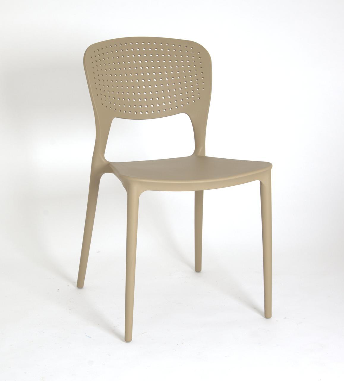 Пластиковый стул модерн Mark (Марк) бежевый 06 от Onder Mebli