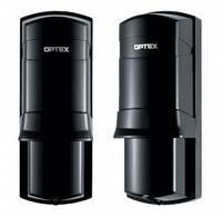 Активные инфракрасные извещатели (ИК лучевые барьеры) OPTEX AX-100Plus и AX-200Plus