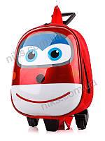 Рюкзак чемодан детский на колесах школьный Тачки David Polo