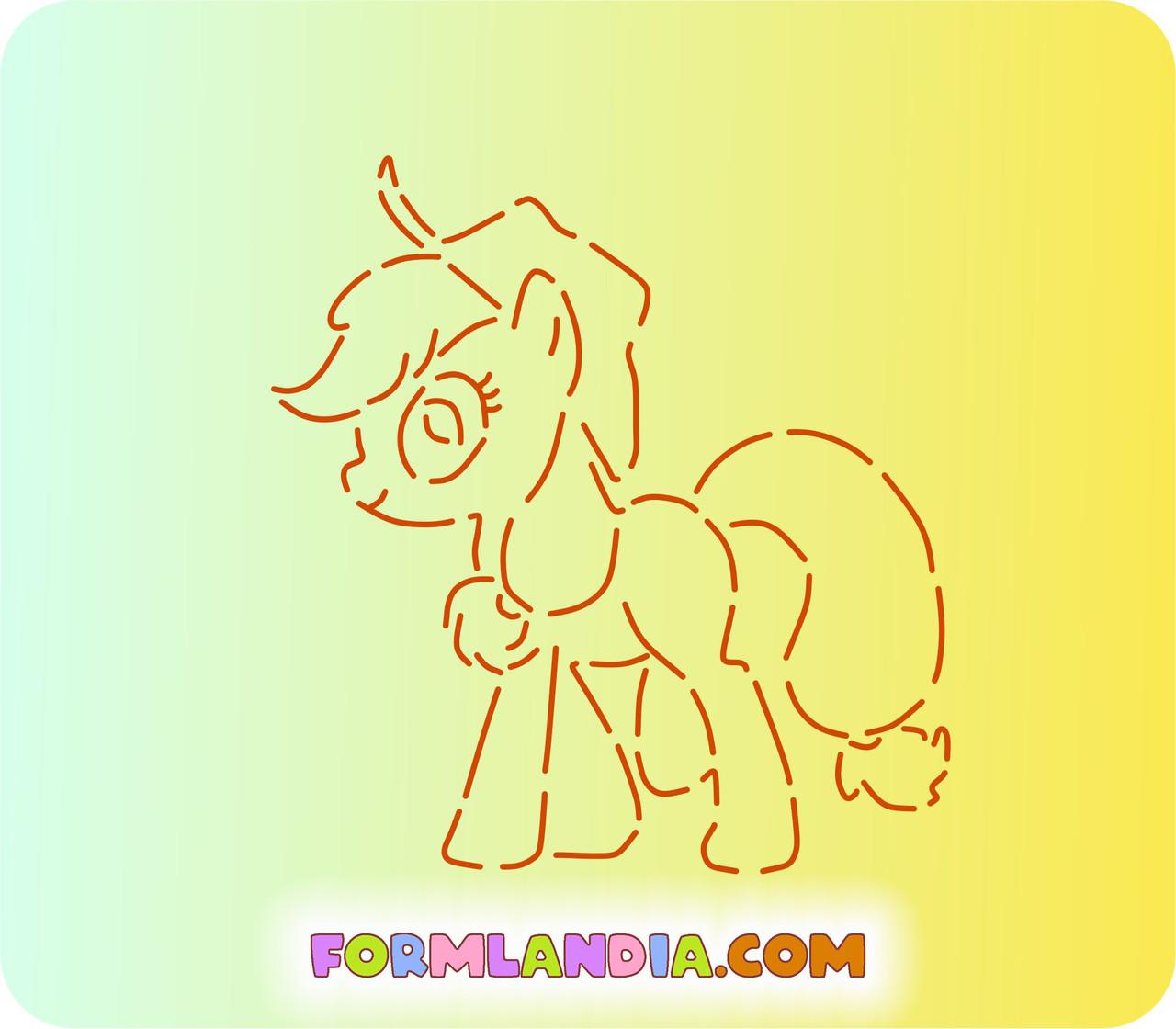 Трафарет + форма Маленькие пони №5