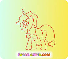 Трафарет + форма Маленькі поні №5
