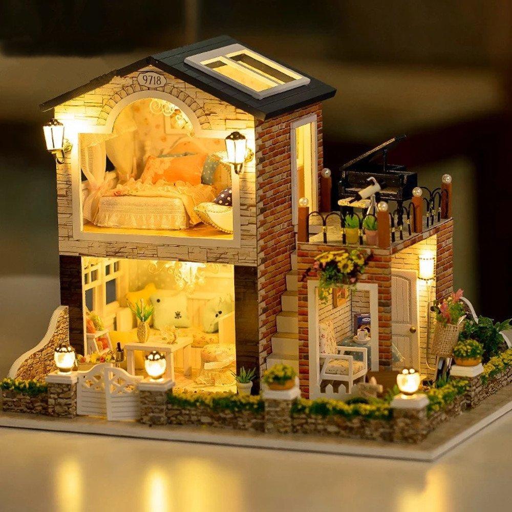 """3D Румбокс """"Загородный дом"""" - Кукольный Дом Конструктор / DIY Doll House от CuteBee"""