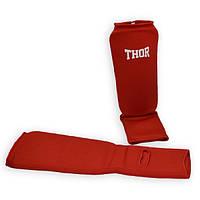 Защита для голени и ног THOR Shin-instep Red защита ног для бокса і единоборств