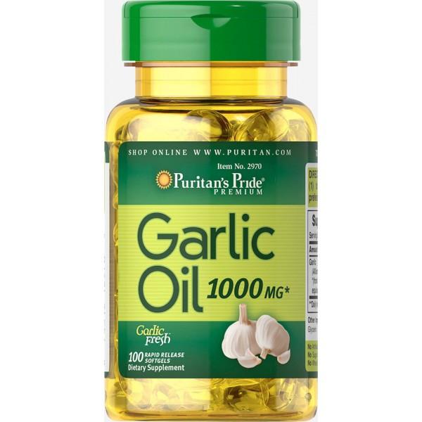 Garlic Oil 1000 mg100 Rapid Release Softgels