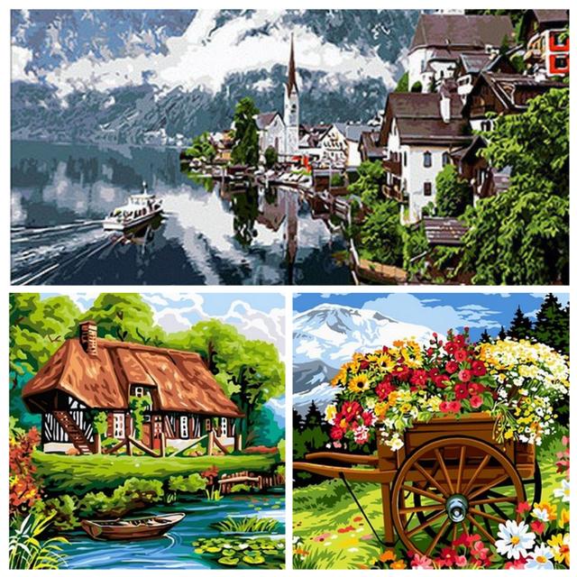 Картины по номерам Пейзаж и Природа — раскраски горы, реки, водопады на Po-Nomeram.com.ua