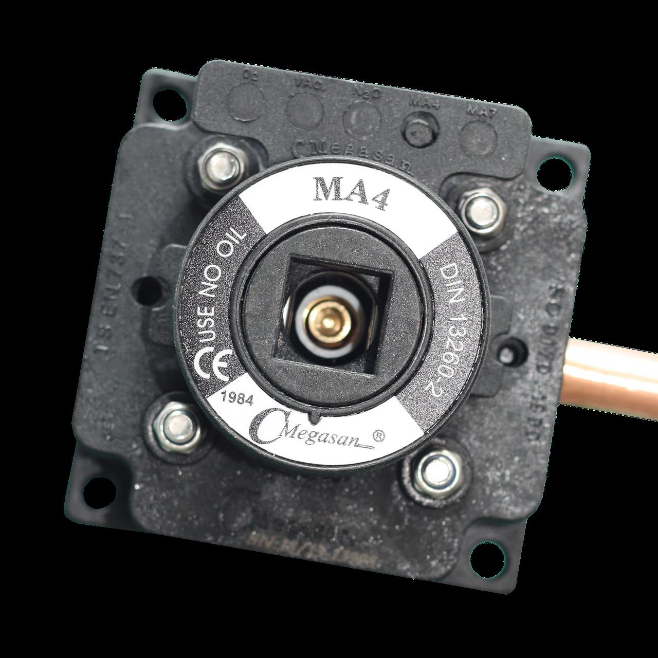 Розетка газовая, медицинский воздух 4 - DIN - пневматическая 10 мм