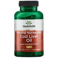 Рыбий жир (печень трески) Swanson Premium Cod Liver Oil  180 капс