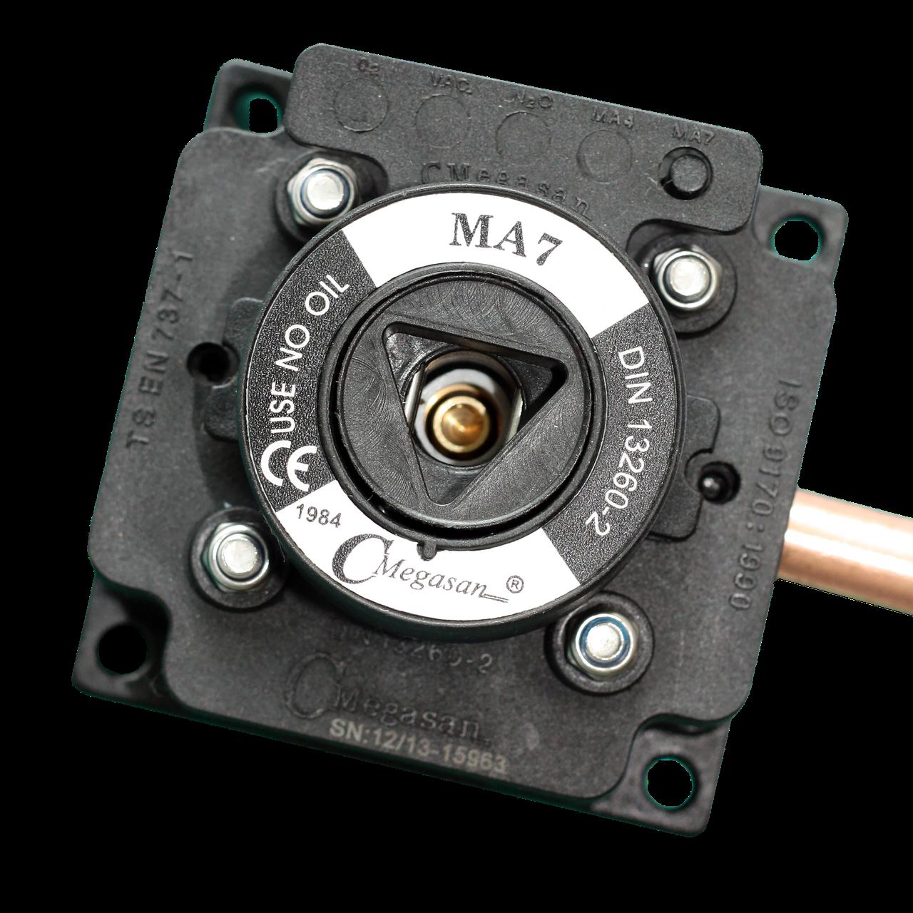 Розетка газовая, медицинский воздух 7 - DIN - пневматическая 10 мм