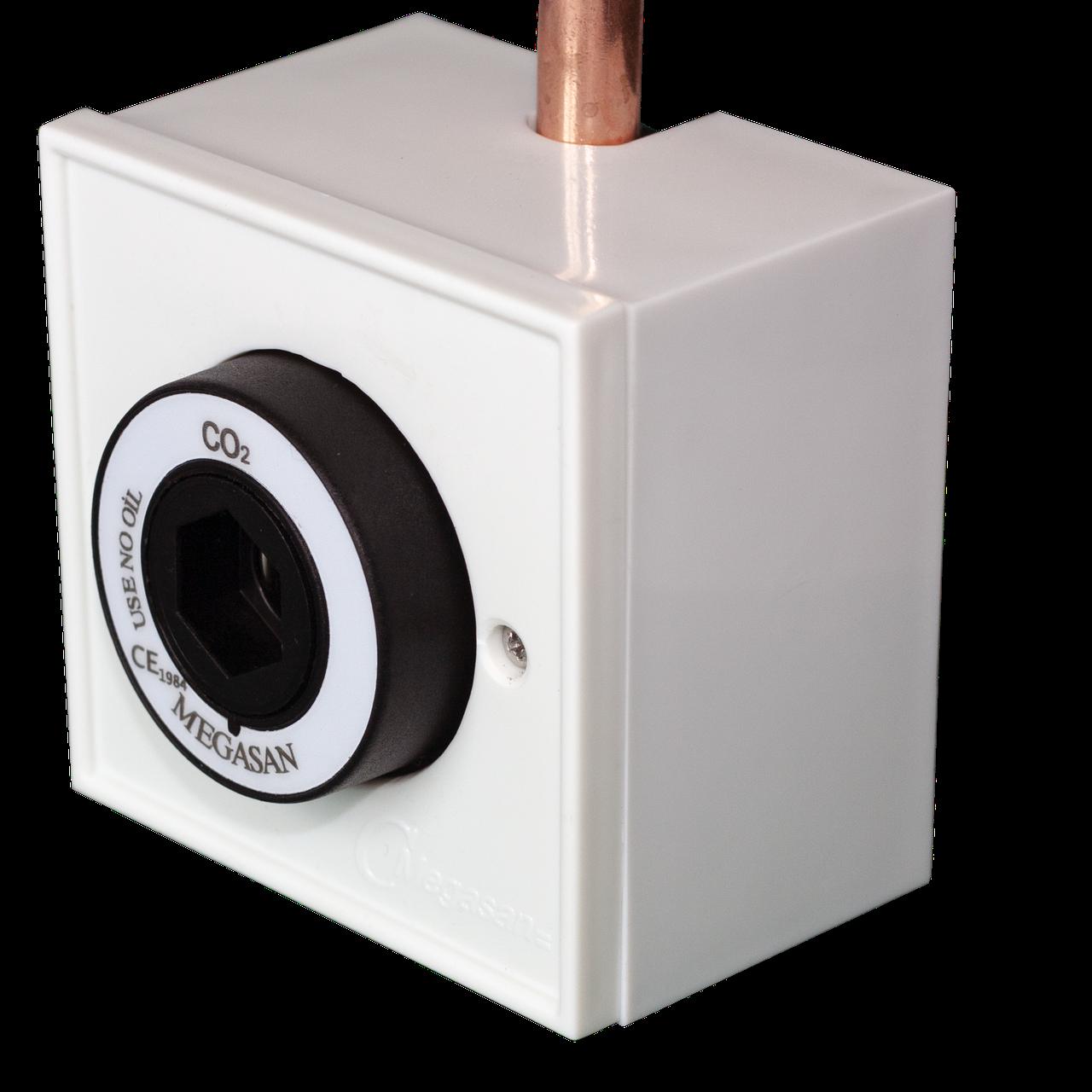 Розетка газовая, в корпусе, углекислый газ - DIN - пневматическая 8 мм