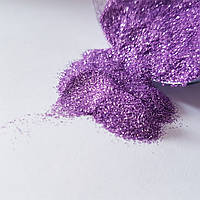 Глиттер сиреневый Спаркл Sparkle, размер частиц мелкий 0,2 мм Gvi