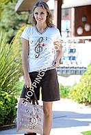 """Костюм для дома и отдыха футболка и шорты Shirly 4591 """"Скрипичный ключ"""""""