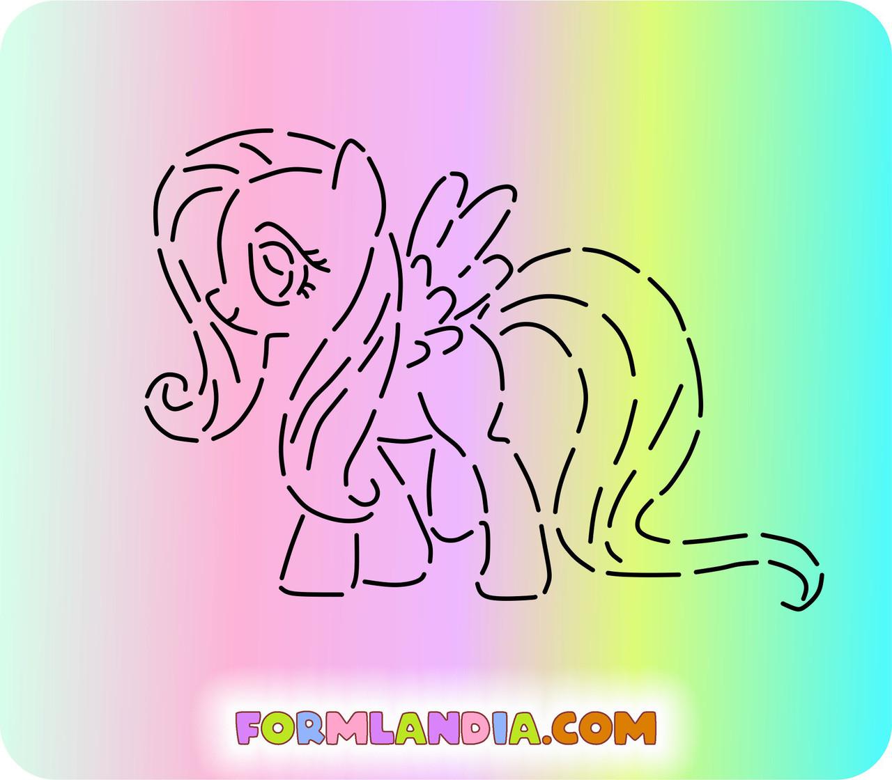 Трафарет + форма Маленькие пони №6