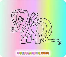 Трафарет + форма Маленькі поні №6