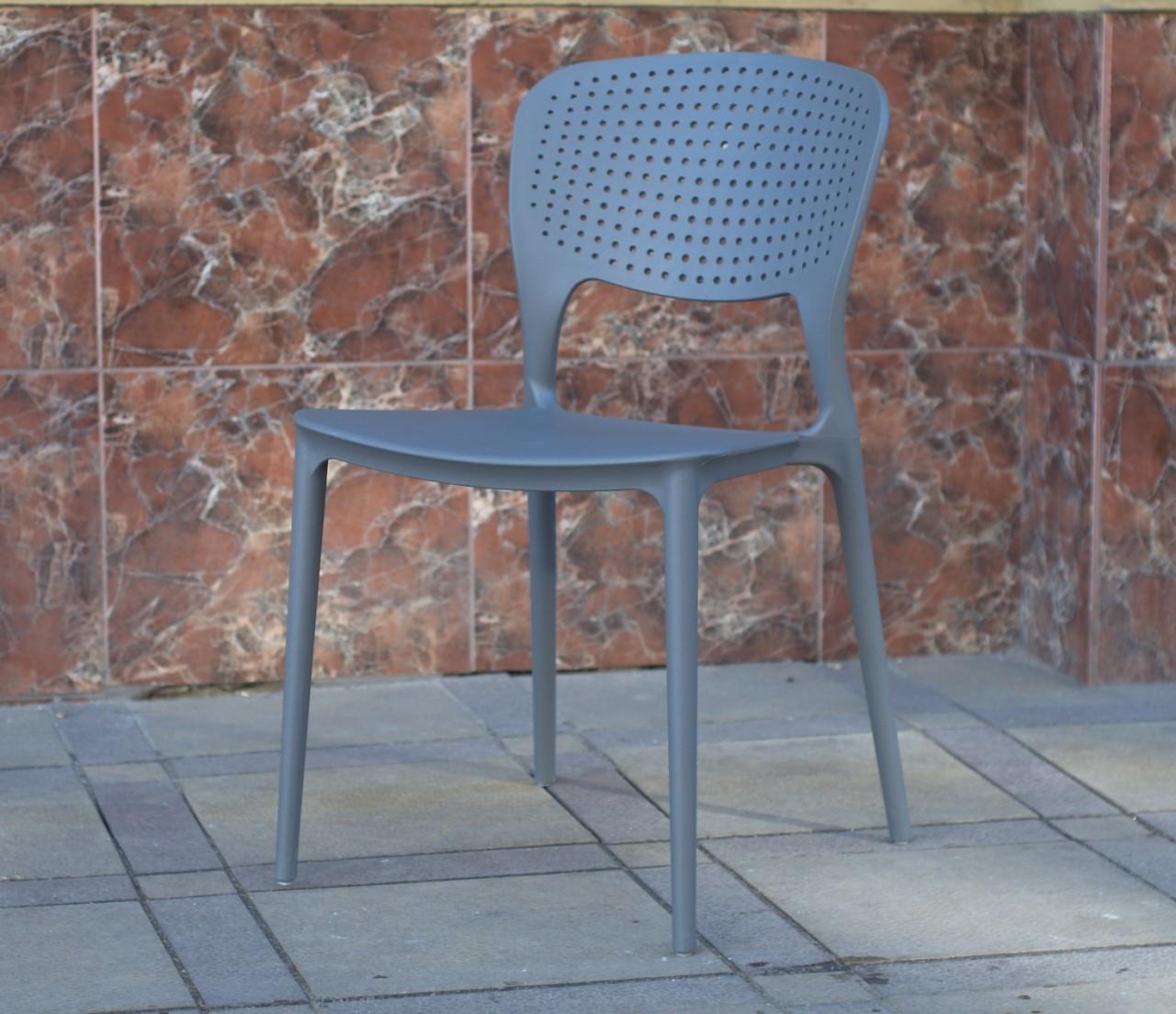 Пластиковий стілець модерн Mark темно-сірий 21 від Onder Mebli