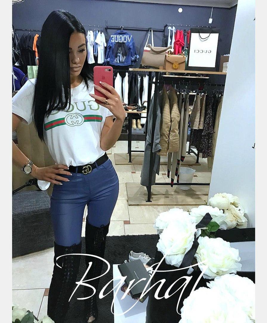 Женская модная футболка  БХ240