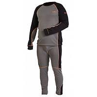 Термобелье мужское Norfin Comfort Line черно серого цвета
