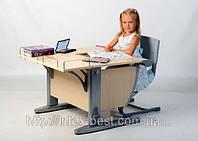 Стол СУТ.14 + Полка задняя СУТ.14.210 клен/серый