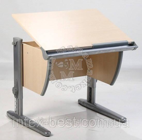 Стол СУТ.15 + Стул СУТ.01 клен/серый (пластик)