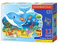 Детские макси пазлы Подводные друзья на 12 элементов.