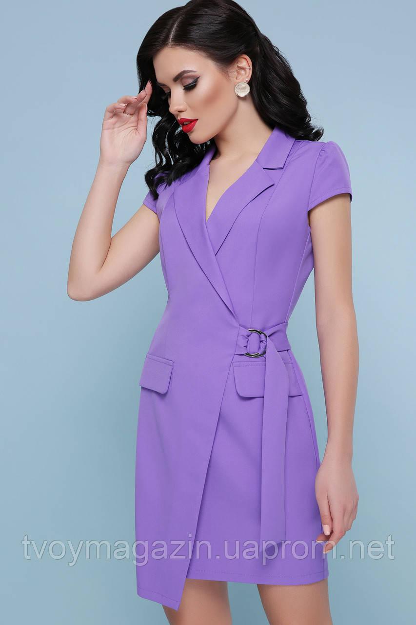 Восхитительное сиреневое платье-пиджачок  Чудова фіолетова сукня-піджак