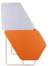 Диван офисный Shell Фетр Серый/Оранжевый, Бежевый ТМ AMF, фото 3