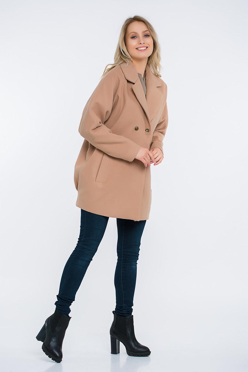 Пальто Lilove 48-501 42-44 бежевый