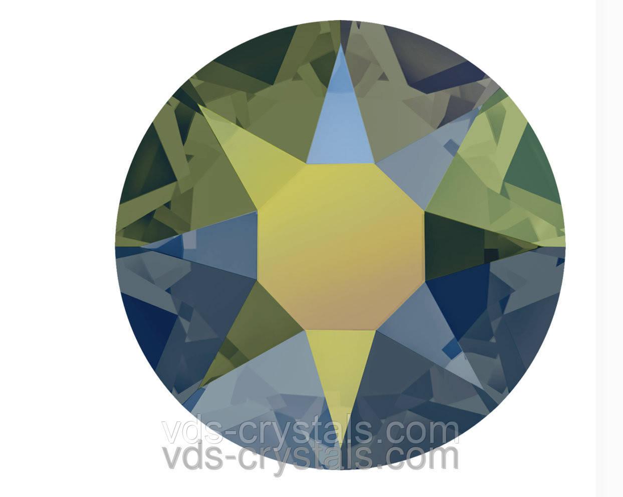 Кристаллы Swarovski клеевые холодной фиксации 2088 Crystal Iridescent Green F (001 IRIG) 12ss (упаковка 1440 шт)
