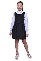 Сарафан школьный для девочки М-1047 рост 140 синий, фото 1