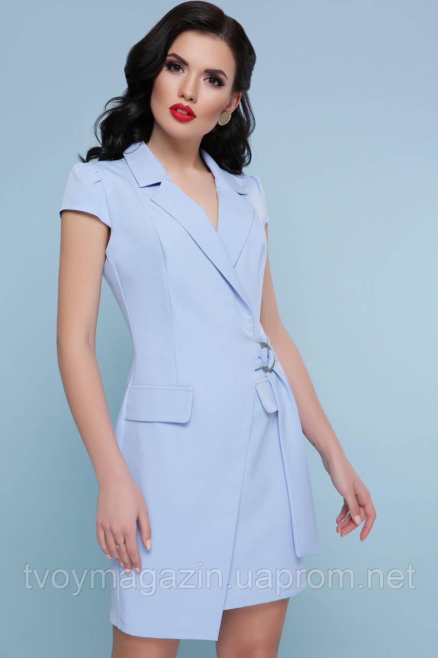 Восхитительное голубое платье-пиджачок  Чудова блакитна сукня-піджак