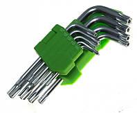 Набор ключей звездочка, набор авто ключей, ключи Torx 9шт, набор инструмента Torx.