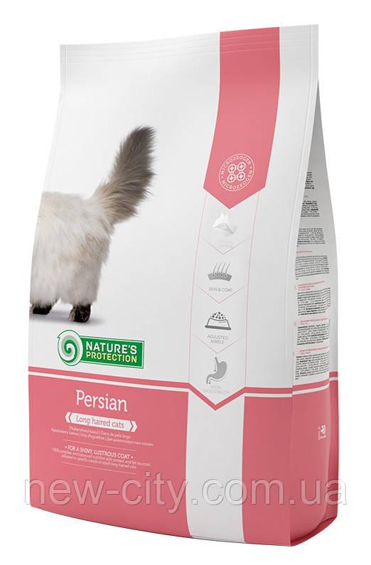 Корм Nature's Protection (Натур Протекшн) Long hair для взрослых кошек с длинной и густой шерстью, 400г