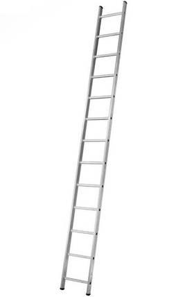 Алюминиевая односекционная  приставная лестница Stark 1*10  SVHR1x10, фото 2