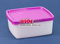 """Контейнер 0,45 л харчовій для заморозки 126х113х52мм пластиковий прямокутний з кришкою """"Arctic Box"""" Ал-Пластик, фото 1"""