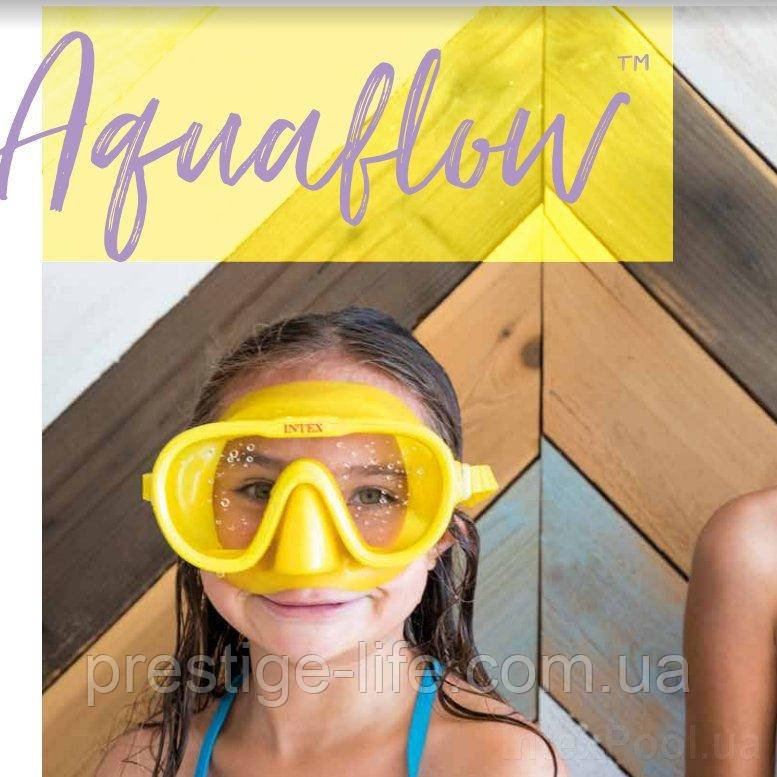 Набор для плавания маска с трубкой Intex 55642 M (8+) 55 см, желтый