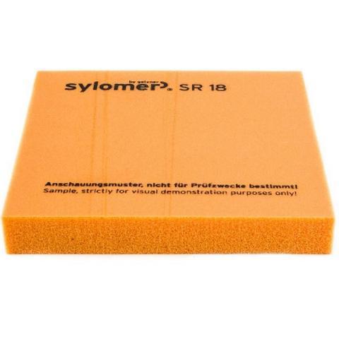 Виброизолирующий полиуретановый эластомер Sylomer SR18-25 оранжевый