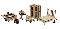 Конструктор из дерева Мебель: спальня и ванная Kalinin арт 020
