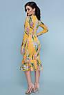 Желтое платье с цветочным принтом гиацинтами  Жовта сукня з квітковим принтом гіацинтами, фото 2