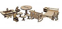 Конструктор из дерева Мебель спальня и ванная Kalinin арт 021