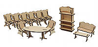 Конструктор из дерева Мебель кухня Kalinin арт 022
