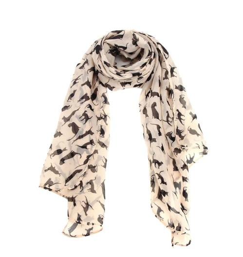 Женский шифоновый шарф - размер шарфа приблизительно 146*47см, шифон