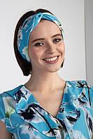 Голубая повязка на голову COMELI в цветочный принт
