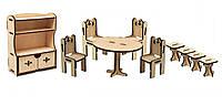 Конструктор из дерева Мебель кухняKalinin арт 025
