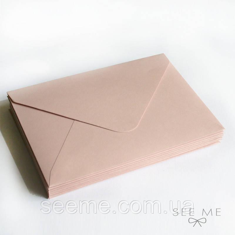Конверт 162x113 мм, цвет телесно-розовый (cipria rose)