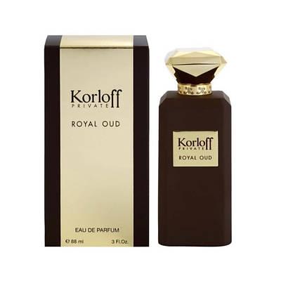 Элитные духи унисекс KORLOFF Royal Oud 88ml парфюмированная вода, изысканный восточно-древесный аромат