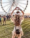 Короткое платье с принтом золотистого гороха из сетки с набивным кружевом, фото 6