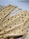 Короткое платье с принтом золотистого гороха из сетки с набивным кружевом, фото 8
