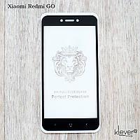 Защитное стекло 2,5D Full Glue для Xiaomi Redmi GO (черный) (клеится всей поверхностью)
