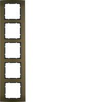Рамка 5Х коричневая/антрацит Berker B.3