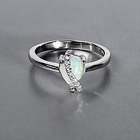 Кольцо из серебра с натуральным радужным опалом, 5*8 мм., серебро 925, 1022КО