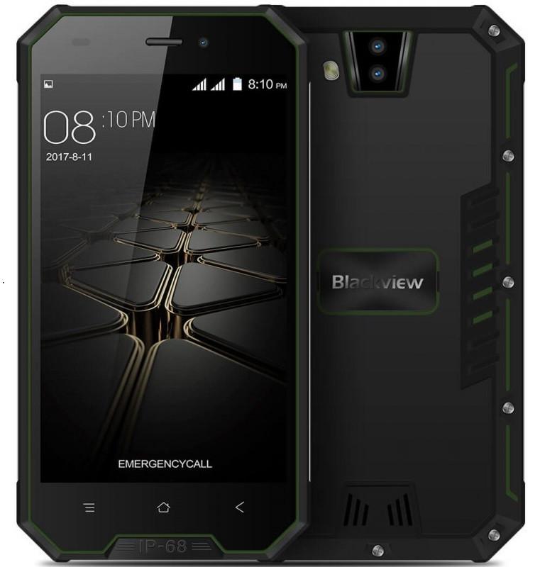 "Смартфон Blackview Bv4000 Pro 2/16Gb Green, 8/2Мп, 4 ядра, 2sim, IP68, экран 4.7"" IPS, 3680mAh, GPS, 3G"